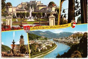 Austria, Salzburg, die Festspielstadt, used Postcard