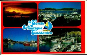 CE0843 new caledonia noumea yacht club boats pier harbour pacific ocean