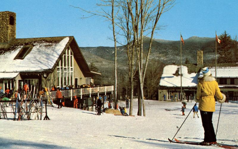 NH - Waterville Valley. Base Lodge on Mt. Tecumseh (Skiing)