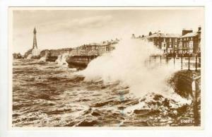 RP,Waves Crashing Off Sea Wall,Blackpool,England,00 -10s