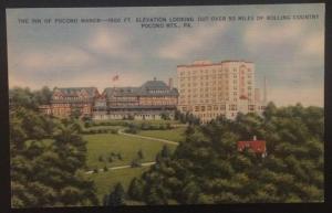 The Inn of Pocono Manor Pocono Mts. PA 1941 Colourpicture Publication 12693