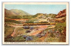 001  Santa Fe Freight Train  in CA