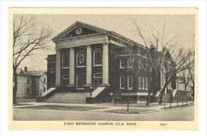 First Methodist Church, Iola, Kansas, 1940 PU