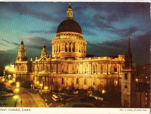 UK, St. Paul's Cathedral, London, used Postcard