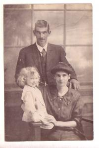 Real Photo, Family Portait, Man with Woman and Child, Photographer