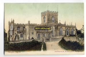 cu0292 - Edington Church , Wiltshire - postcard