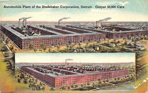 Detroit MI Studebaker Automobile Plant, in 1915 Postcard