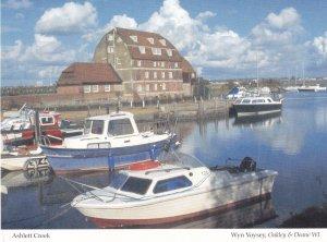 Ashlett Creek Boats Hampshire Womens Institute Postcard