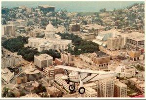 Wisconcin Madison Aeroplane View Spirit Of St Louis