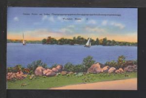 Union Point,Lake Chargagog...,Webster,MA Postcard