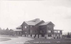 Maine Moose River Maw Paw Lodge Real Photo RPPC