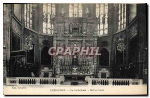 Old Postcard Perpignan The Cathedral Altar