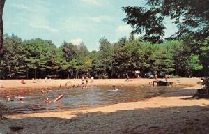 Dover New Hampshire Madbury Old Stage Campground Swimming Postcard JD933936