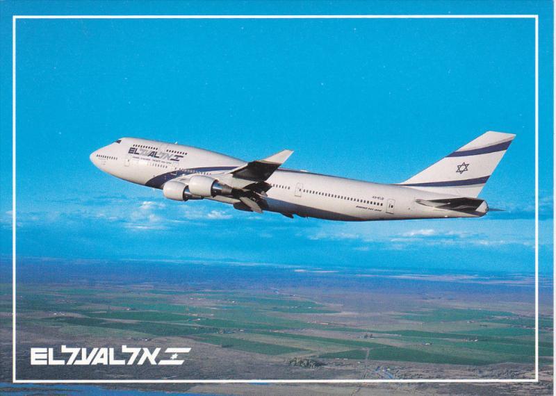 Israel Airlines Boeing 747-400 Jet Airplane , 80-90s