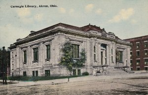 AKRON, Ohio, 1900-1910s; Carnegie Library