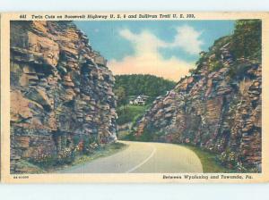 Linen RUSTIC SCENE Wyalusing And Towanda - Near Scranton Pennsylvania PA hk3726