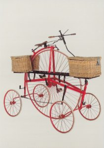 Victorian 5 Wheeled Bicycle Sussex Royal Mail Postman Postcard