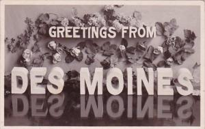 Iowa Des Moines Greetings From Des Moines 1908
