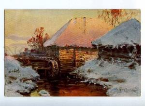 224407 RUSSIA PROKOFIEV old mill Richard #684 vintage postcard