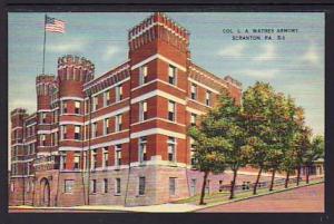 Col L A Watres Armory Scranton PA Post Card 5303