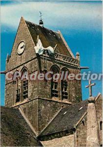Postcard Modern Semi Sainte Mere Eglise (Manche) The church (XIII century) an...