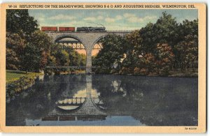 Reflections on the Brandywine, B&) Railroad & Augustine Bridges, Wilmington DE