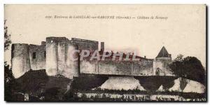Old Postcard surroundings Cadillac sur Garonne Chateau de Benauge