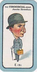 Carreras Small Vintage Cigarette Card The Nose Game No E5 The Commercial Nose...