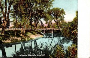New Hampshire Keene Ashuelot River Scene 1907