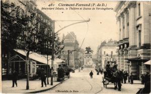 CPA CLERMONT-FERRAND - Le Boulevard Desaix le Theatre et Statue (73005)