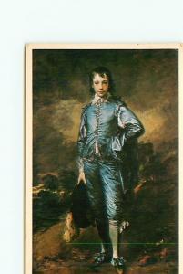 Postcard Painting Blueboy Thomas gainsborough Huntington Library CA  # 3411A