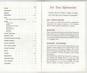 CANADIAN PACIFIC, 20-page Information Booklet, 1957