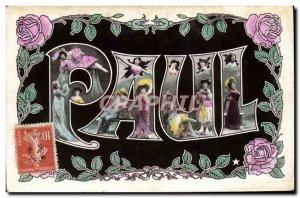 Old Postcard Fancy Surname Paul Women