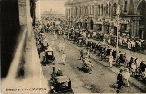 PC CPA SRI LANKA, CEYLON, GRANDE RUE DE COLOMBO, Vintage Postcard (b12888)