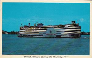 Steamer President Cruising The Mississippi 1960