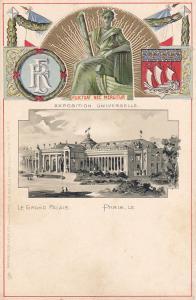 PARIS, France, 1900-1910´s; Exposition Universelle, Le Grand Palais, Fluctuat Ne