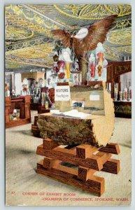 Spokane Washington~Chamber of Commerce~Exhibit Room Corner~Stuffed Bird~c1910
