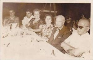 Greece Piraeus Dinner Scene RPPC 1962