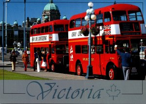 Canada British Columbia Victoria London Double Decker Buses