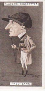 Player Vintage Cigarette Card Racing Caricatures 1925 No 25 Fred Lane