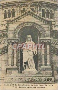 Old Postcard Basilique du Sacre Coeur in Montmartre Statue Sacre Coeur by Mic...