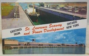 St Lawrence Seaway Ontario New York Vintage Postcard