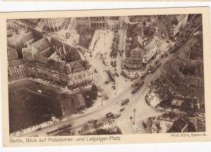 Zeppelin Postcard Germany Aerial View Gustav Eyb - Berlin Potsdamer & Leipziger