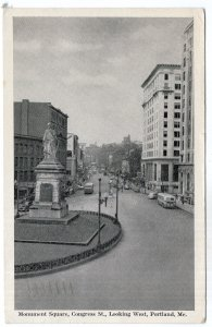 Portland, Me, Monument Square, Congress St., Looking West