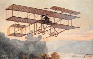 LP82    Aviation  Airplane Famous Airship Vintage Postcard Tuck Farman Aeroplane