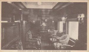 BURLINGTON Railroad Pullman Lounge Cars 1910s #1