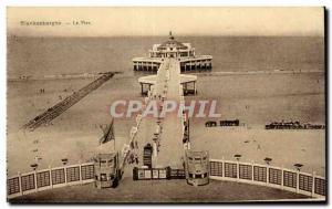 Old Postcard Belgium Blankenberghe Pier