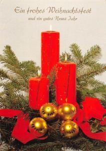 Ein frohes Weihnachtsfest und ein gutes Neues Jahr Globes Candles
