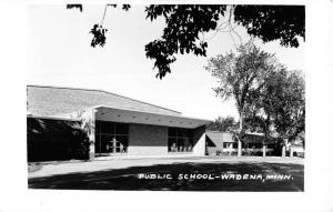 Wadena Minnesota Public School Real Photo Antique Postcard K96338