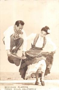 California Ca Postcard Real Photo RPPC 1946 PADUA HILLS Mexican Players Dancers